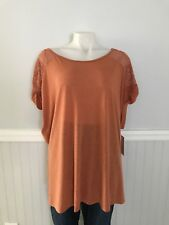 Women's Sz 3X SONOMA Goods for Life  Lace  Peplum Top Tee Blouse NWT
