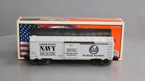 Lionel 6-58040 O Gauge RARE US Navy Seabees Boxcar 1 of 360 NIB