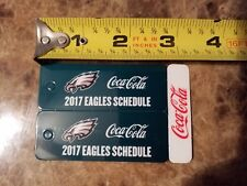 Philadelphia Eagles 2017 COCA COLA Sponsor Two New Keychain Schedules NEW & MINT