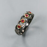 Rhodolite Ring 925 Sterling Silver Size 8.5 /RT19-0237