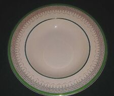 BURGESS & LEIGH BURLEIGH WARE SOUP DISH BONE CHINA RIMMED SOUP BOWL GREEN & GOLD