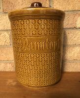 Rumtopf Jar Glazed Ceramic Pot Preserved Fruit Vintage Kitchenalia Pattern 1970s
