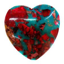 heart-shaped  Sea Sediment Jasper & Turquoise  Pendant Bead 40*40*6mm M281