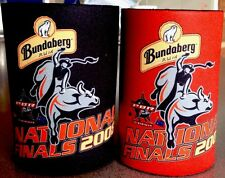 BUNDABERG RUM Rare Set Of 2 National Finals 2008 Can Bundy Stubby Holders RARE