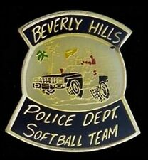 Beverly Hills Police Dept Pin Badge~Softball Team~Law Enforcement~Department