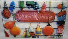 "Nautical Themed Glass Cutting Board  LOBSTER SHACK  11 3/4"" x 7 3/4"""