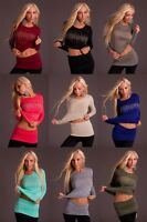 Sexy Women Clubbing Pullover Party Top + Skirt Ladies Jumper Blouse Size 6 8 10