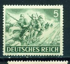 Germany WW2 Wehrmacht Motorized Marcksmen in Attack Motorcycle stamp 1943 MLH