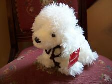 PLUSH BOSWELL WHITE POODLE DOG NEW !
