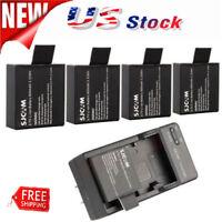 4pc Original Li-ion battery 3.7V 900mah for SJCAM SJ4000 SJ5000 Sports Camera US