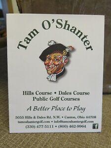 TAM O'SHANTER GOLF COURSE (Canton, OH) SCORE CARD