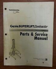 Genie Superlift Contractor, Parts & Service Manual, Part No. 33953