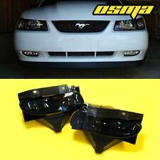 1999-2004 Ford Mustang GT Front Bumper Smoke Fog Lights Driving Lamps+Bulbs Pair