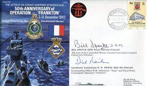 Op Frankton COCKLESHELL HERO veterans Bill Sparks & Dick Raikes signed cover