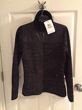 Oakley Sundown women's fleece lined sweater coat, black, S, New With Tag!