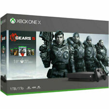 Microsoft CYV00321 XBox One X 1TB Video Game Console with 5 Games - Blac