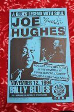"JOE ""GUITAR"" HUGHES San Antonio, TEXAS (1994) Concert Poster blues guitar"