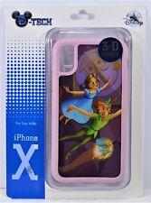 Disney Exclusive Peter Pan & Tinkerbell 3-D Effect Pink Apple Iphone 10 X Case