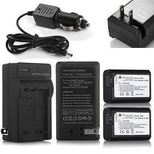 2 NP-FW50 Batteries & Charger For Sony NEX-6 NEX-5 NEX-3N A6000 A5000 A33 A55 A7