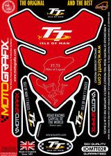 Isla de Man Tt Carreras Licencia Oficial Rojo Motocicleta Protector de Depósito
