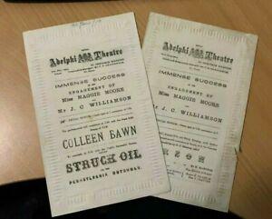 Theatre Programmes 1876 J C Williamson Maggie Moore Adelphi Theatre