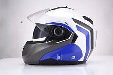 Sparco Riders casco moto modular Blanco/azul talla S