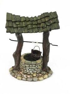 Fairy Garden Wishing Well working handle and bucket Fiddlehead miniature garden