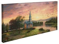 Thomas Kinkade Sunrise Chapel 16 x 31 Wrapped Canvas