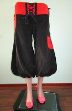 Womens Yoga Relax Hippy Ethnic Heavy Crop Cord Trousers Pants sz 16 18 L I36
