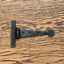 6 in (ca. 15.24 cm) COPPIA CERNIERE A T A T Cerniera Cinghia Cerniera Nero Vintage ferro battuto Bean
