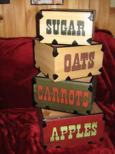Primetive Wooden Apple Crates Nesting Stacking Boxes Country Decor Vintage look