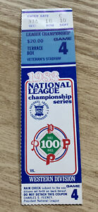 1983 DODGERS AT PHILLIES GAME 4 NLCS PLAYOFF TICKET STUB PHILLIES CLINCH