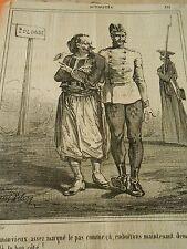 Litho 1863 - Pologne emboitons maintenant demi tour à droite voila le bon coté