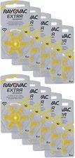 Rayovac A10/PR70 Extra Advanced Pilas de Audífono, Pack de 60 Pillas