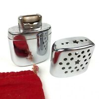 Vintage Silver Star Hand Warmer Lighter With Red Bag Case Made In Korea Used