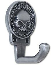 Harley-Davidson® Willie G Skull Antique Pewter Utility Coat Wall Hook HDL-10103