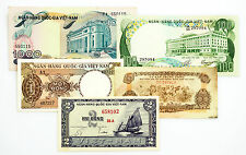 5 different South Vietnam paper money 1960's-70's nice circ.-Au