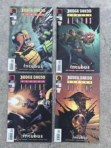 Judge Dredd versus Aliens 1 Through 4. dark horse comics 2003 very fine