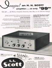 "1956 H.H. Scott Model 99-B ""The 99"" 22 Watt Hi-Fi Amplifier Vtg Print Ad"