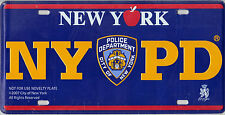 NYPD Souvenir License Plate (licensed Copyright Novelty item)