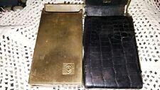 Vintage Cigarette Cases, 1 Metal And 1 Vinyl, Good Condition