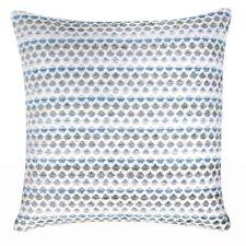 Kissen ARES blau weiß skandinavisches Muster 45x45 cm abnehmbarer Bezug