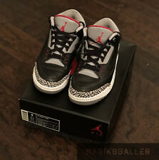 Air Jordan 3 III Black Cement Size 9 2011 Bred Retro NIKE USED
