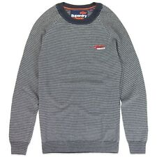 Superdry Jumper - Superdry Orange Label Cotton Crew Knit Jumper - Mariner Feeder