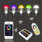 4x E27 Milight 2.4G 6W 9W RGBW RGB White LED Bulb + RF Touch Remote Controller