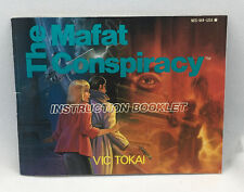 The Mafat Conspiracy Instructions - Authentic Manual ONLY - Nintendo NES