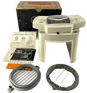 Vintage 1961 VEG-O-MATIC Food Chopper in Original Box 2 Blades & Documentation