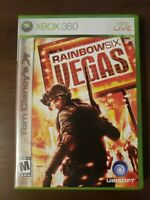 Tom Clancy's Rainbow Six: Vegas (Microsoft Xbox 360, 2006) Complete with Manual