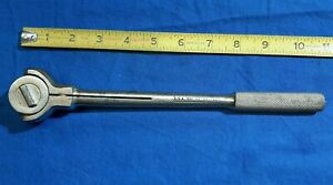 "Vintage S-K WAYNE Tools Ratchet 3870 3/8"" dr Roto Head Flex Ratchet Wrench."