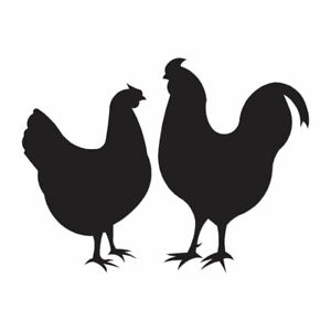 Chicken Rooster - Vinyl Decal Sticker - Multiple Color & Sizes - ebn821